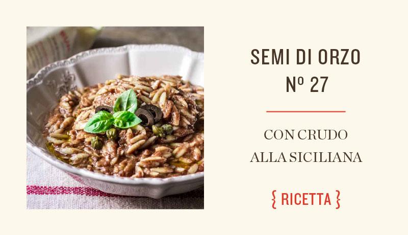 Ricetta con crudi alla siciliana
