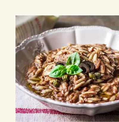 Ricetta con crudo alla siciliana